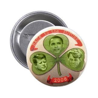 Barack al botón futuro pin