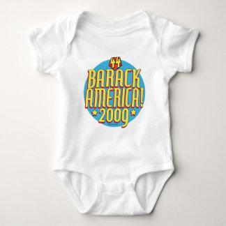 Barack America 2009 Political Super Hero Gear Baby Bodysuit