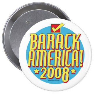 Barack America text Pinback Button