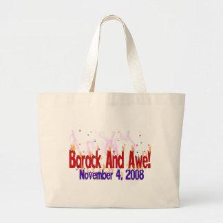 Barack and Awe Large Tote Bag