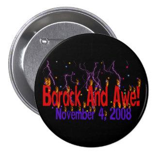 Barack and Awe Pinback Button