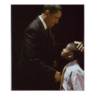 BARACK AND CHILD POSTER