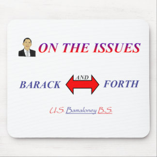 Barack and Forth Mouse Pad