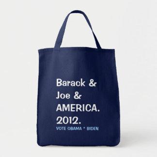 Barack and Joe and AMERICA 2012 Tote Bag