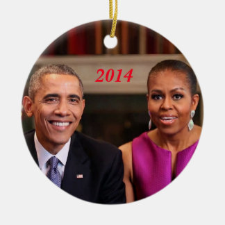 Barack and Michelle 2014 - Ornament