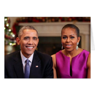 Barack and Michelle 2014 WA - Greeting Card