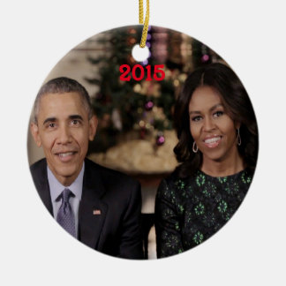 Barack and Michelle 2015 - Ornament