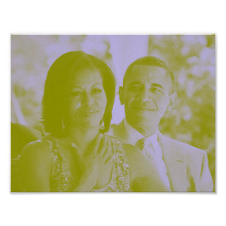 Barack and Michelle Obama 1a.jpg Poster