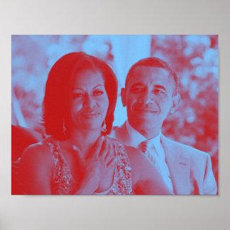 Barack and Michelle Obama 1b.jpg Poster
