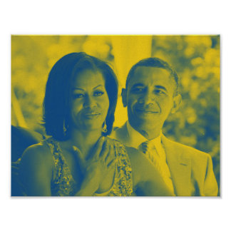 Barack and Michelle Obama 1c.jpg Poster