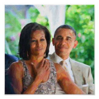 Barack and Michelle Obama 2 Art.jpg Poster