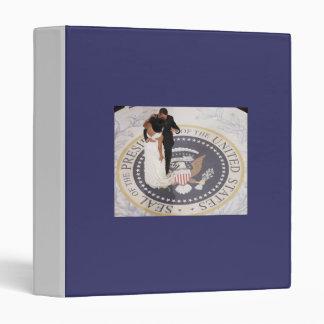 Barack and Michelle Obama 3 Ring Binder
