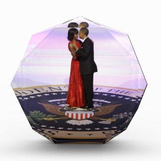 Barack and Michelle Obama Acrylic Award