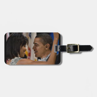 Barack and Michelle Obama Bag Tag