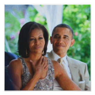 Barack and Michelle Obama  by Asar Studios 1 Art.j Poster