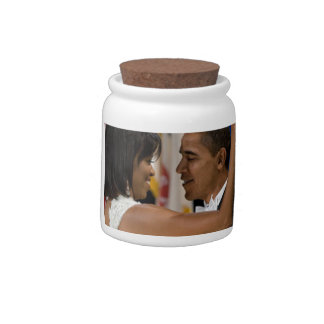 Barack and Michelle Obama Candy Jars