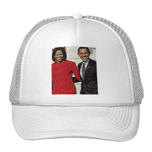 BARACK AND MICHELLE OBAMA cap Trucker Hat