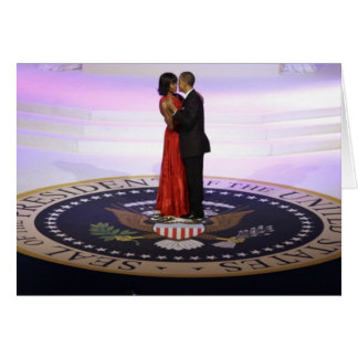 Barack and Michelle Obama Card