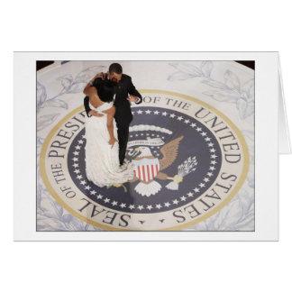Barack and Michelle Obama Card