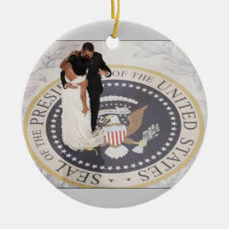 Barack and Michelle Obama Ceramic Ornament