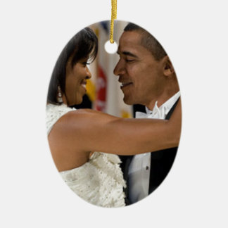 Barack and Michelle Obama Ceramic Ornament