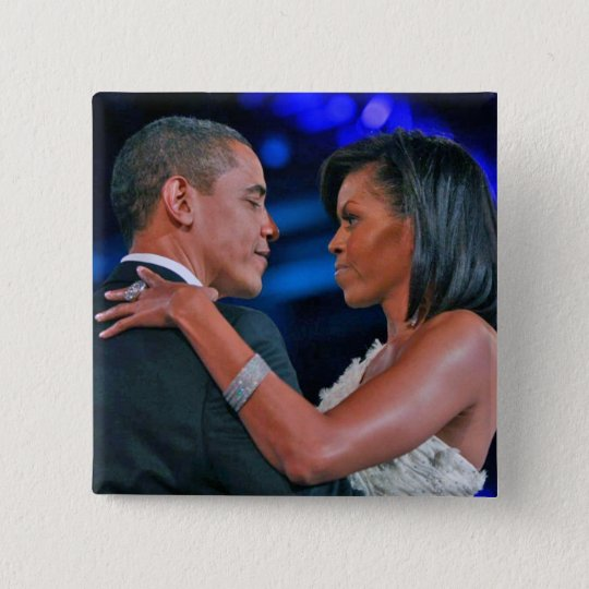 Barack and Michelle Obama dancing at Inaugural Bal Pinback Button