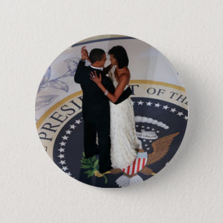 Barack and Michelle Obama dancing Inaugural Ball Pinback Button