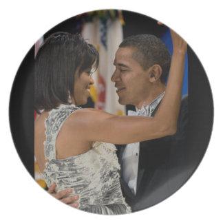 Barack and Michelle Obama Dinner Plate