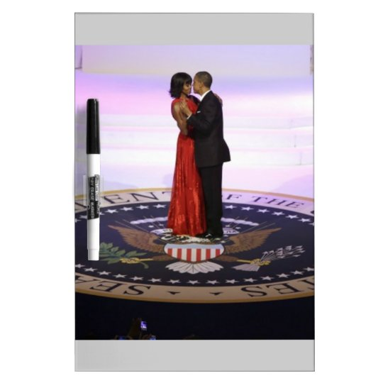 Barack and Michelle Obama Dry-Erase Board