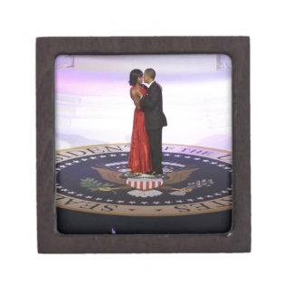 Barack and Michelle Obama Jewelry Box