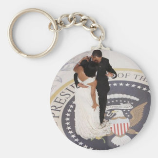 Barack and Michelle Obama Key Chains