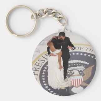 Barack and Michelle Obama Keychain