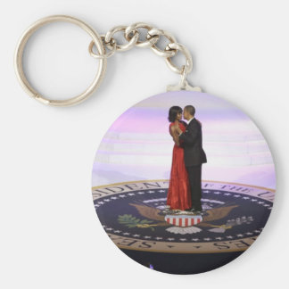 Barack and Michelle Obama Keychains