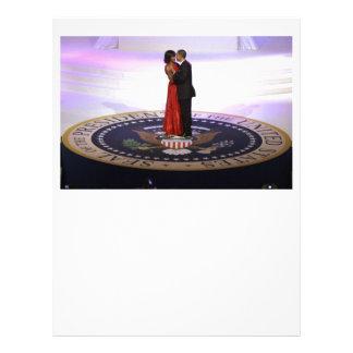 Barack and Michelle Obama Letterhead