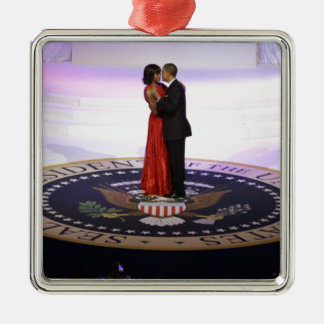Barack and Michelle Obama Metal Ornament