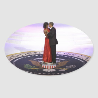 Barack and Michelle Obama Oval Sticker