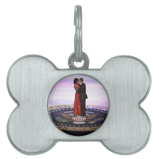 Barack and Michelle Obama Pet Tag