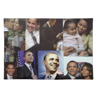 BARACK AND MICHELLE OBAMA placematt Cloth Placemat