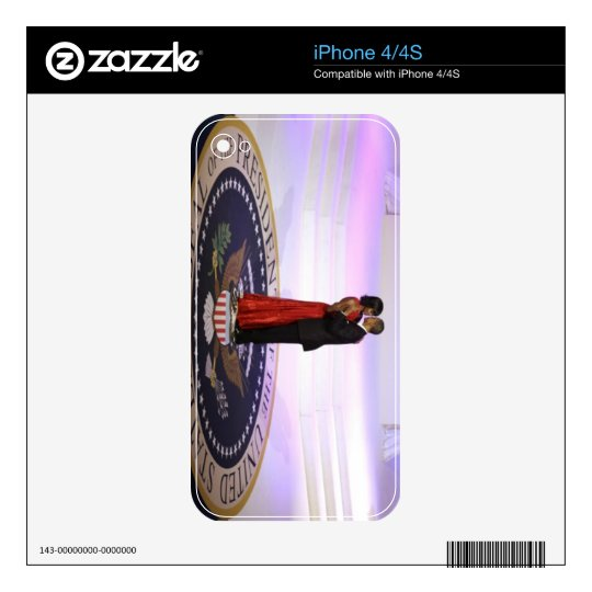 Barack and Michelle Obama Skin For The iPhone 4