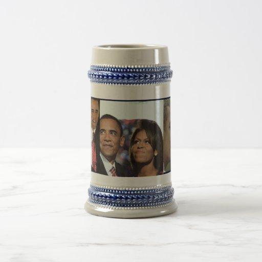 BARACK AND MICHELLE OBAMA stein Mugs