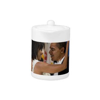 Barack and Michelle Obama Teapot