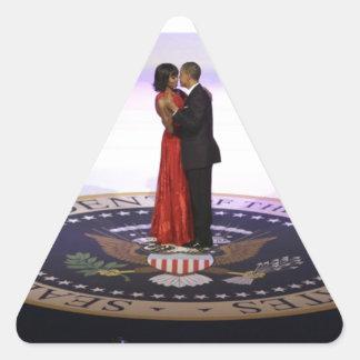 Barack and Michelle Obama Triangle Sticker