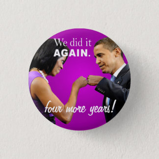 Barack and Michelle Obama victory fist bump Button