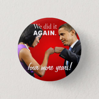 Barack and Michelle Obama victory fist bump Pinback Button