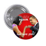 Barack and Michelle Obama victory fist bump Pins
