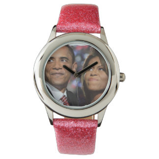BARACK AND MICHELLE OBAMA watch