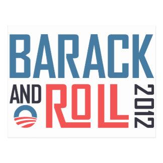 Barack and Roll 2012 Postcard