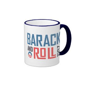 Barack and Roll 2012 Ringer Coffee Mug