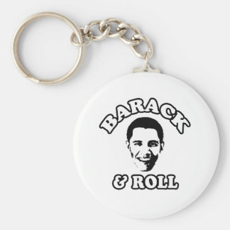 Barack and Roll Basic Round Button Keychain