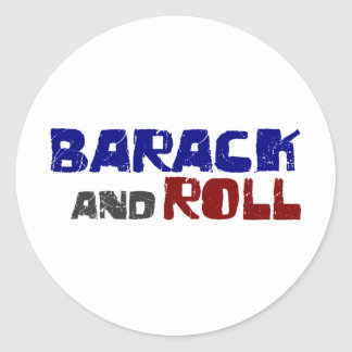 Barack And Roll Classic Round Sticker